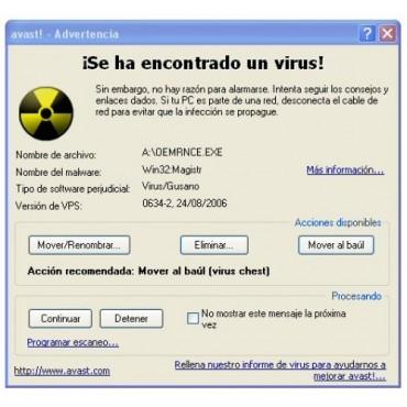 Eliminacion de VIRUS